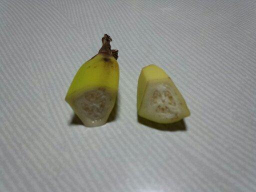 カットしたバナナの写真