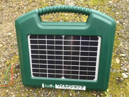 ソーラー型電気柵の写真