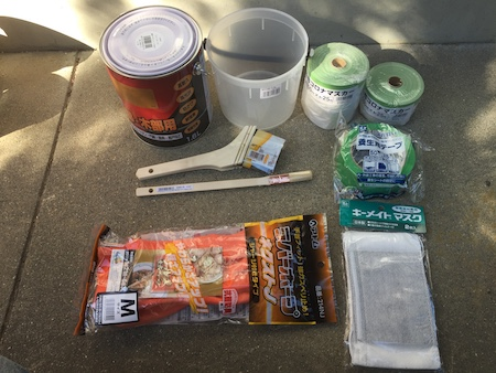 ペンキ塗り道具の写真