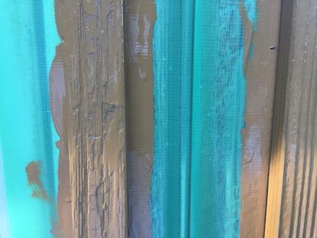 ペンキを塗り終えた後の写真