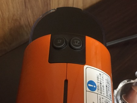 ネスプレッソのボタン説明写真