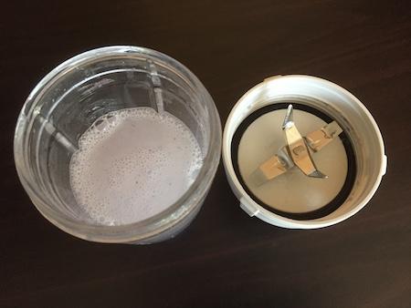 水で汚れが落ちたサイレントミルサーの写真