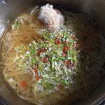 コンニャクラーメンと鳥ささみの料理方法