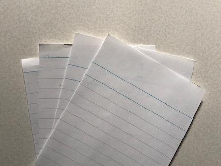メモ用紙の写真