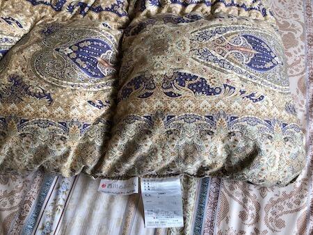 西川の羽毛布団写真