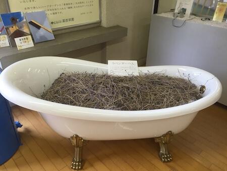 ラーベンダーいっぱいのお風呂写真