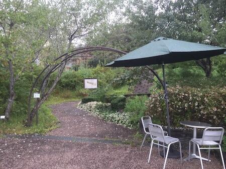 薬香草園のハーブガーデン