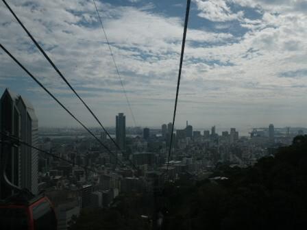 神戸布引ハーブ園のロープウェイ写真2