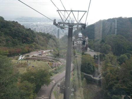 神戸布引ハーブ園のロープウェイ写真