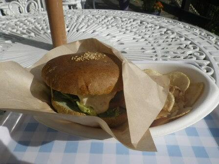 神戸布引ハーブ園での食事写真