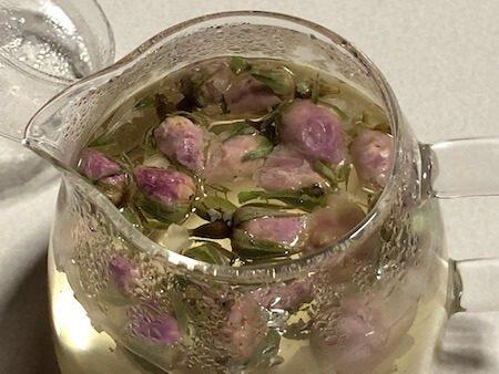 バラの花のお茶写真4