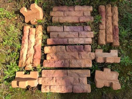 購入した差込式花壇ブロックの写真