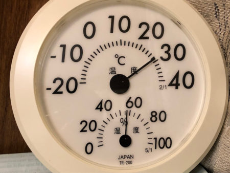 温湿度計の拡大写真